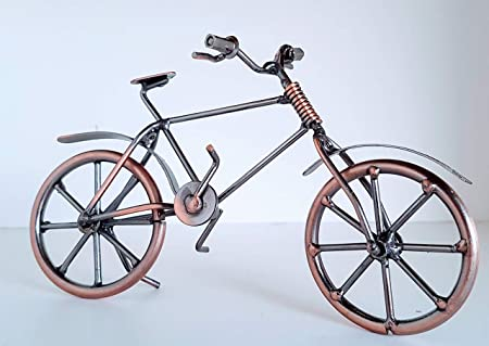 BICICLETA VINTAGE DE METAL DECORACION ESCRITORIO: Amazon.es: Hogar