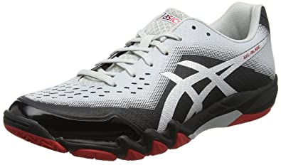 ASICS Men's Gel-Blade 6 Black/Silver/Glacier Grey Badminton Shoes - 6