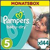Pampers Baby Dry Windeln, Gr.5 (Junior) 11-23kg, Monatsbox, 144 Stück