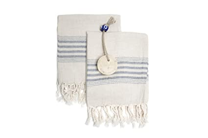 1fe75d7240 Set of 2 Linen Premium Quality Tea Towel Natural in Color and Eco-friendly  Dish