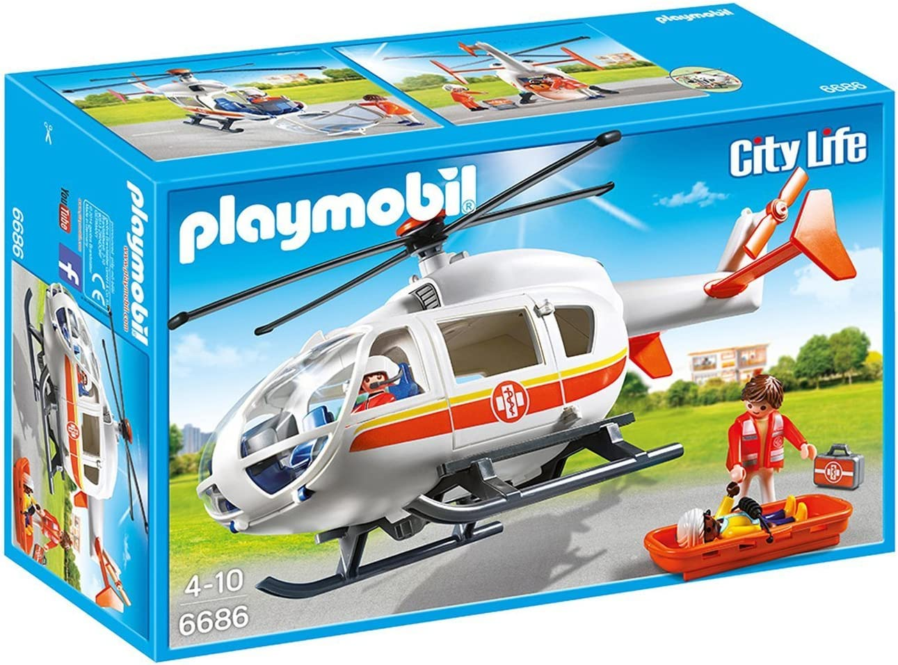 Playmobil Helicóptero Médico de Emergencia 6686