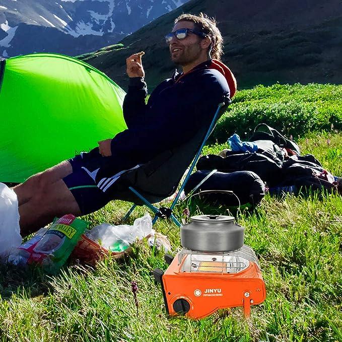 Opfury Calefacción de gas para camping, 1,7 kW, tanque de gas ...