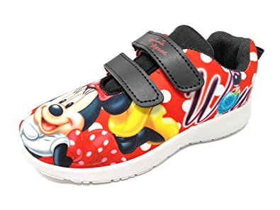 5d94824b2594 Kids  Mickey Mouse  Or  Minnie Mouse  Character Lightweight Sports Running  Trainers Boys Girls Gym Shoes Childrens Casual Sneakers Size 7-1   Amazon.co.uk  ...