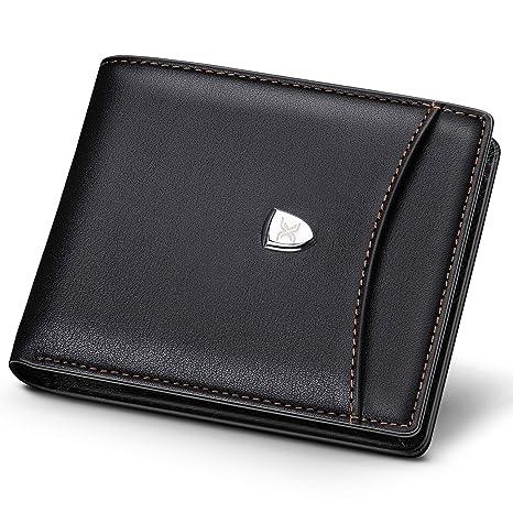 6f84493c95 Portafoglio uomo Xuper, portafogli in vera pelle con porta carte  rimovibile, blocco RFID -