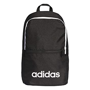 fb5a8206784e68 Adidas Unisex Adult Lin CLAS Bp Day Gym Backpack - Black/White, One Size