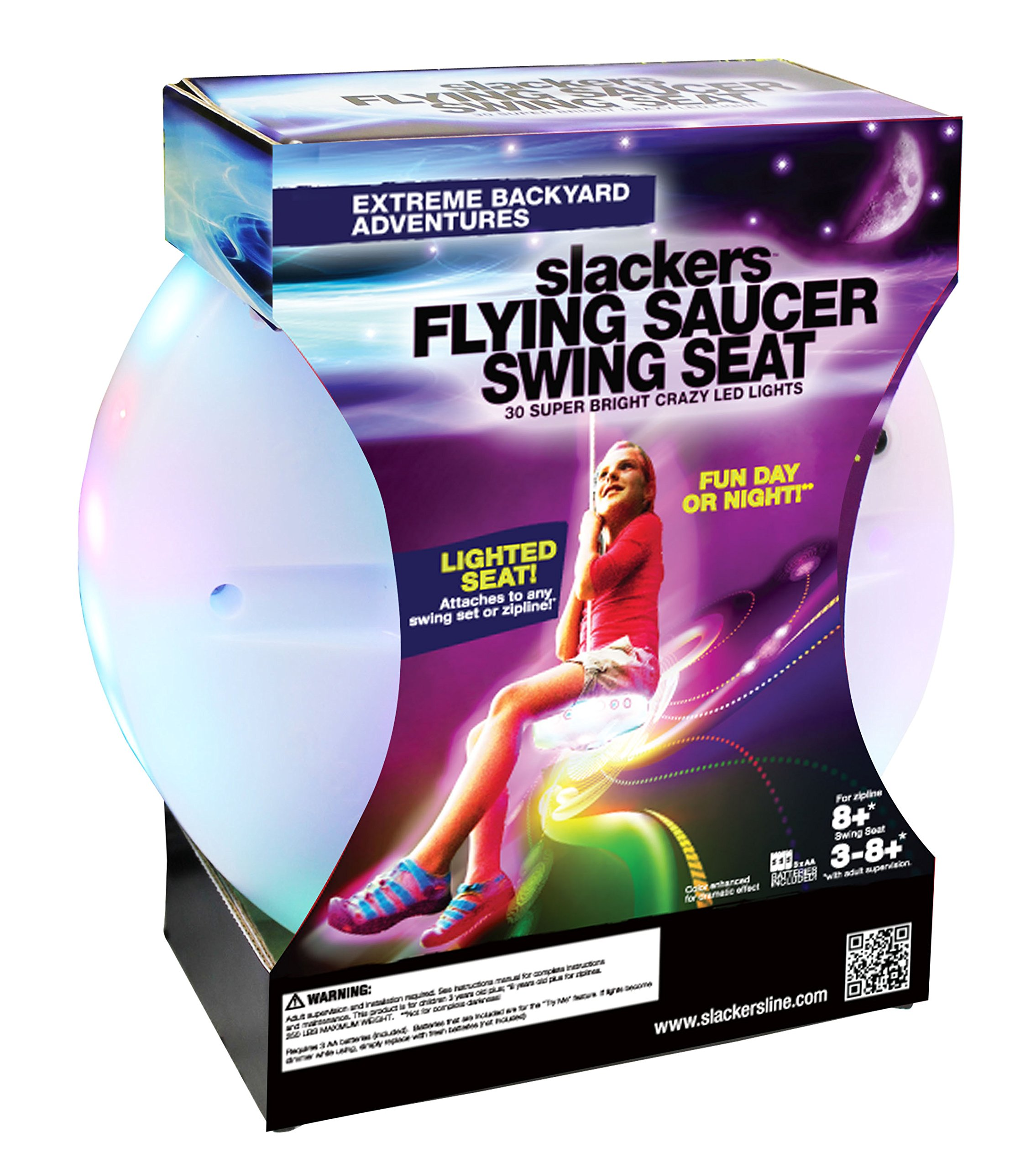 Slackers Flying Saucer Seat with 30 LED Lights
