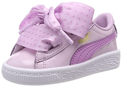 Image Unavailable. Image not available for. Color  PUMA Girl s Basket Heart  Star Trainers 8 Infant Pink 8b4ed348c