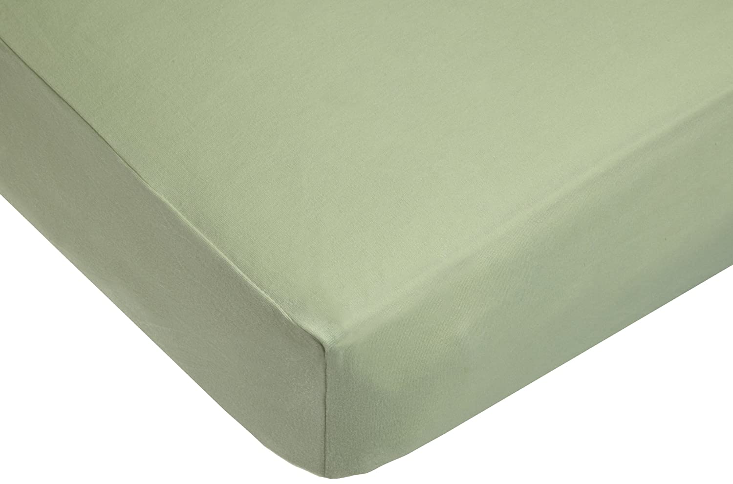American Baby Company Knit Fitted Crib Sheet Made with Organic Cotton in Sage Color, Soft Breathable, for Boys and Girls