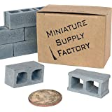 12 Mini Cinder Block, 1/12 Scale Miniature Blocks, Diorama Supplies, Desk Accessories, Birthday Gifts for Him