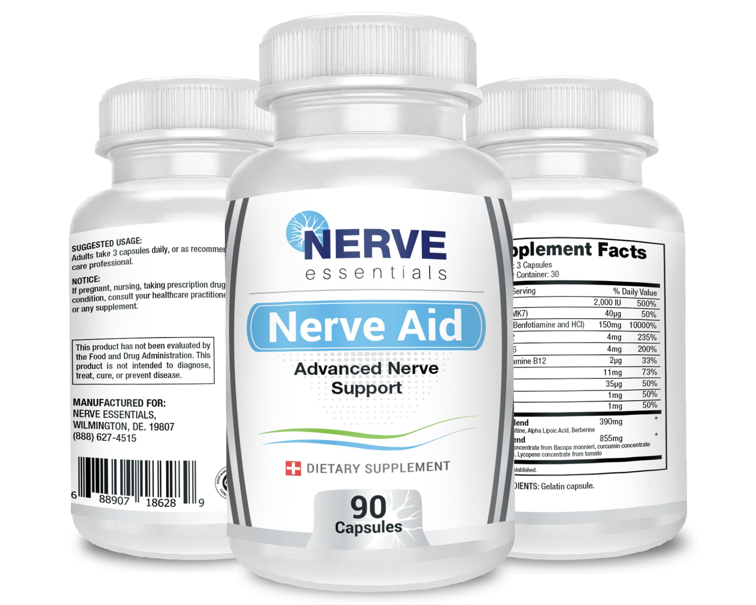 Nerve Aid. Clinically Proven Ingredients Relieve Nerve Pain. Doctor Recommended Formula. Backed By Real Science.100% Satisfaction Guarantee. (3 Bottles)