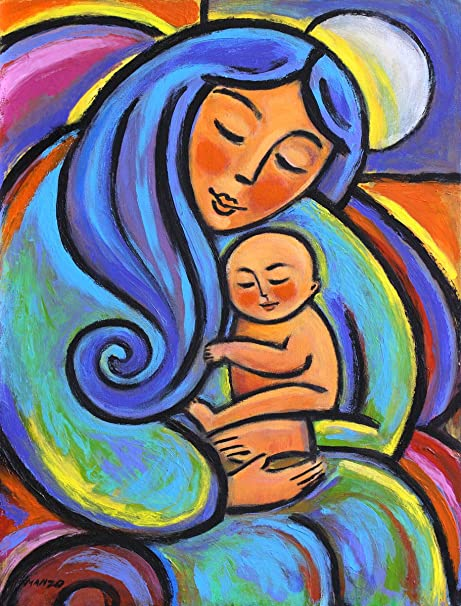 Amazon Com Bundle Of Joy Archival Print From Acrylic Painting 10 X 13 Inches Posters Prints