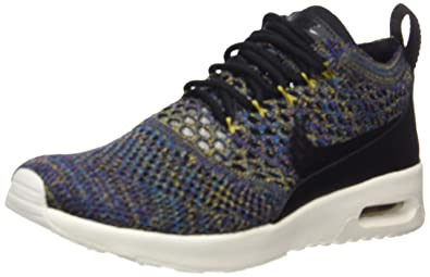 Nike Womens Air Max Thea Ultra Flyknit, Low-Top Sneakers, Black (Black