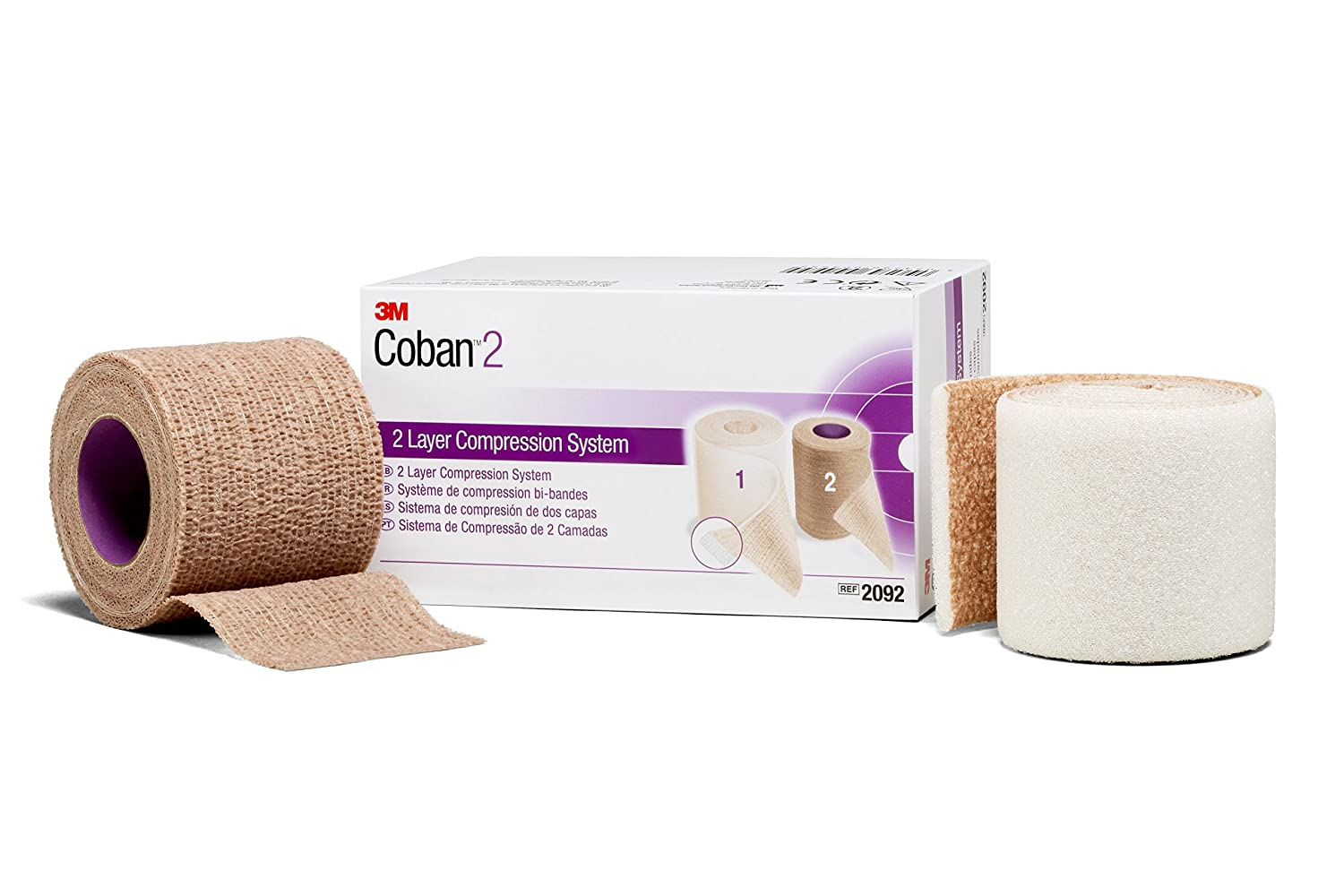 Image of 3M 2094XL Coban 2 Layer Compression System (Pack of 8) Bandages & Bandaging Supplies
