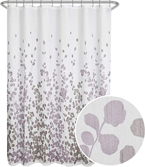 Girls Shower Curtain Feminine Nostalgic Design Print for Bathroom