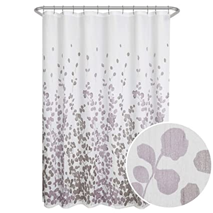 Amazon Maytex Sylvia Printed Faux Silk Fabric Shower Curtain
