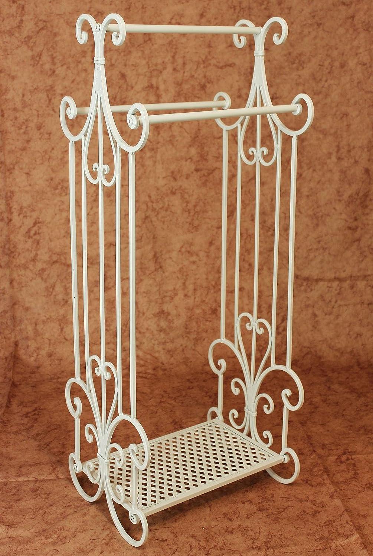 Handtuchständer Increto 92101 Handtuchhalter Landhaus Weiß Bad Möbel aus Metall