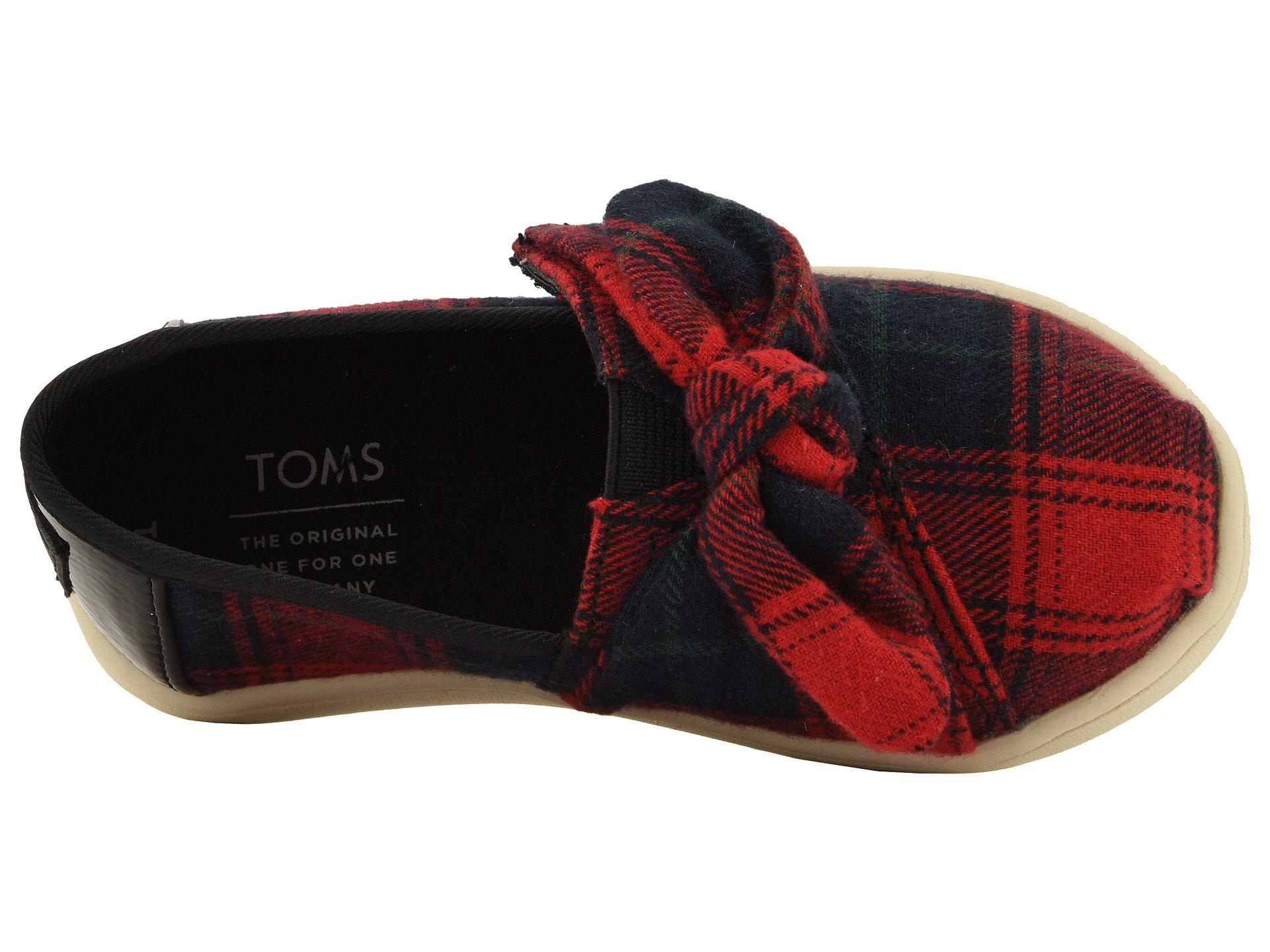 TOMS Kids Baby Girl's Alpargata (7 M US Toddler, Red Tartan Plaid/Bow) by TOMS Kids (Image #9)