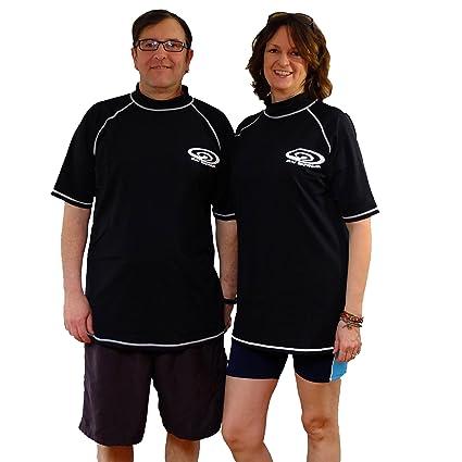 43a8468ebfa Plus Size Rash Guard Swim Shirt - UV Sun Protection Shirts - 50+ SPF - Short  Sleeves - Men and Women (8XL-(64 inch chest)): Amazon.ca: Sports & Outdoors