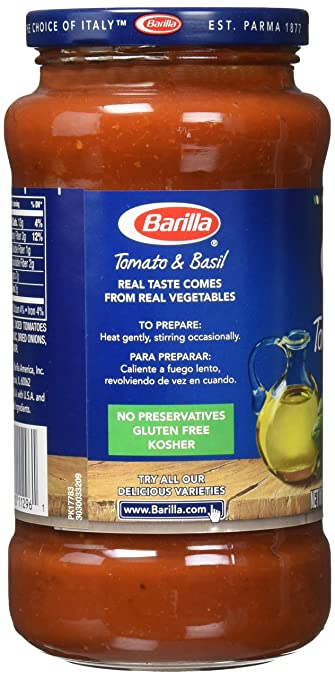 Amazon.com : Barilla Pasta Sauce Variety Pack, 4 Count : Grocery & Gourmet Food