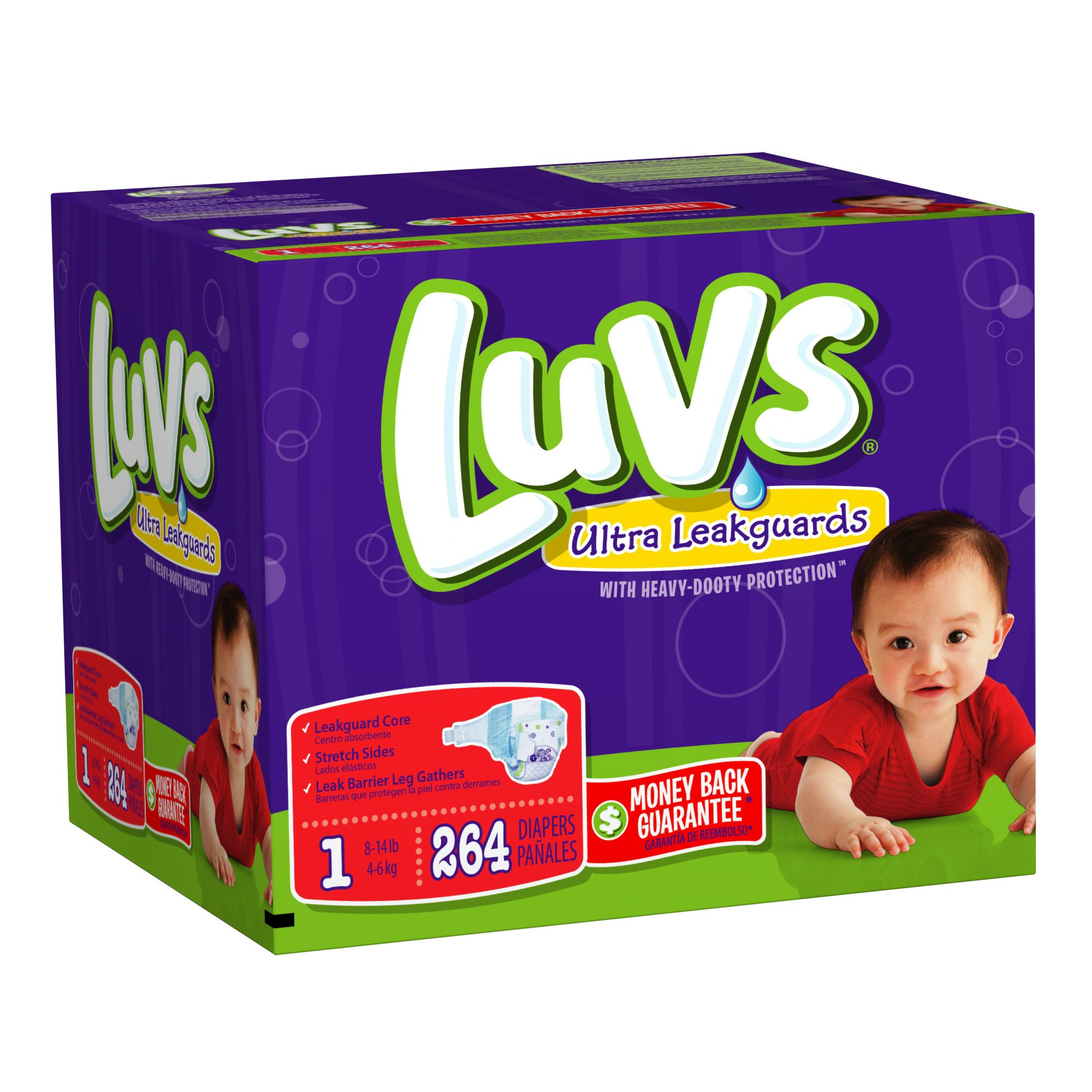 Luvs With Ultra Leakguards Size 1 Diapers 264 Count product image