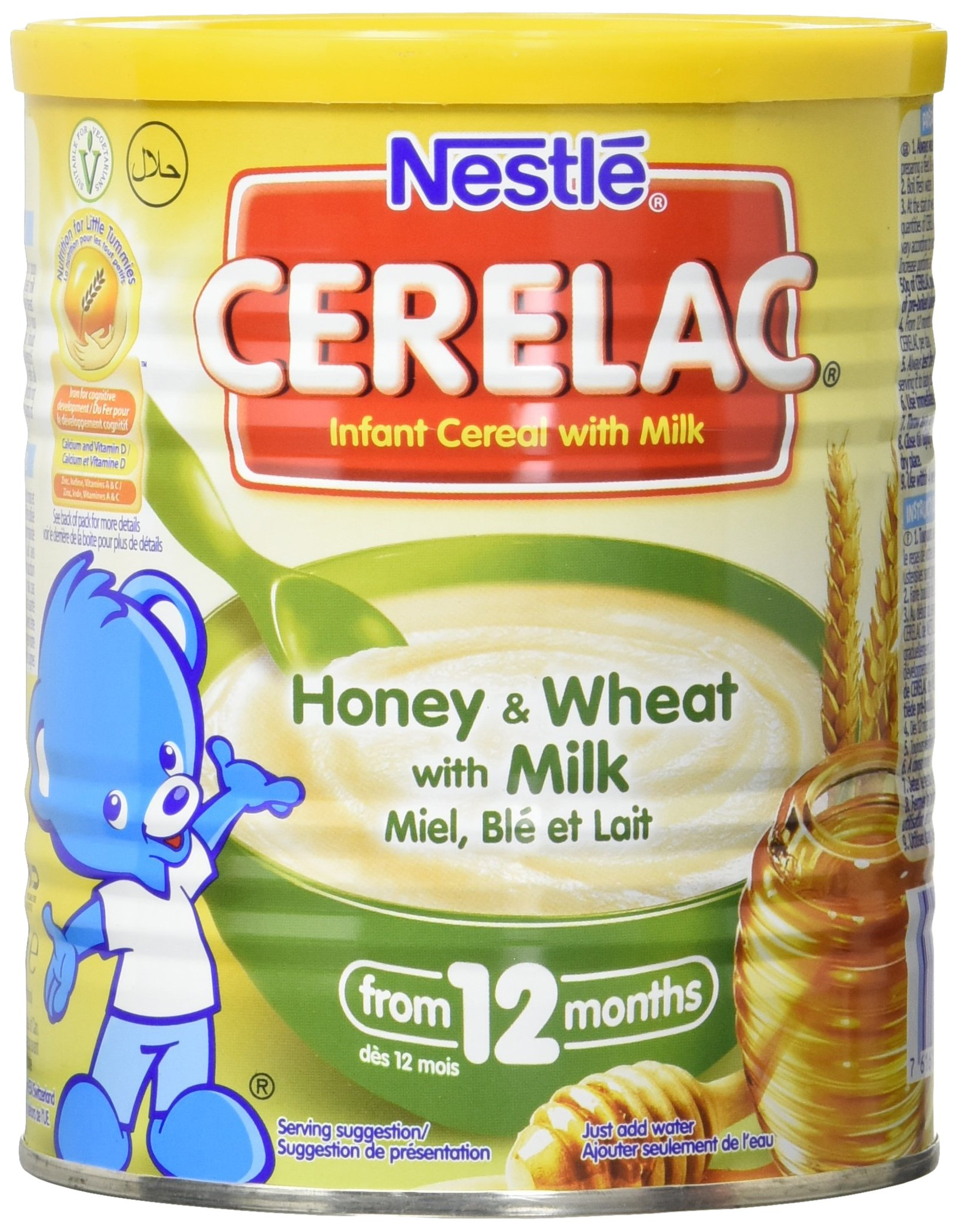 Nestle Cerelac, Honey and Wheat with Milk, 14.11 Ounce Can by Cerelac (Image #1)