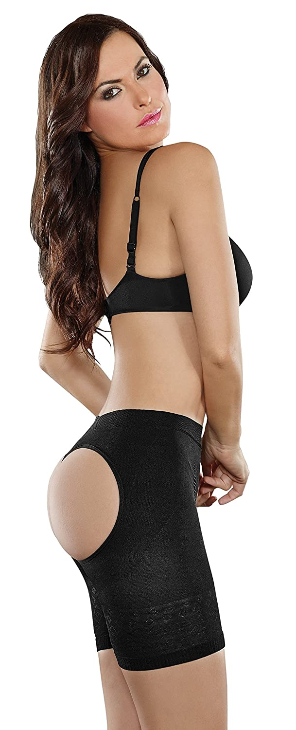 776446edfb1 Cocoon ShapEager Faja Women Shapewear The Butt-Booster Panty Small Black at  Amazon Women s Clothing store