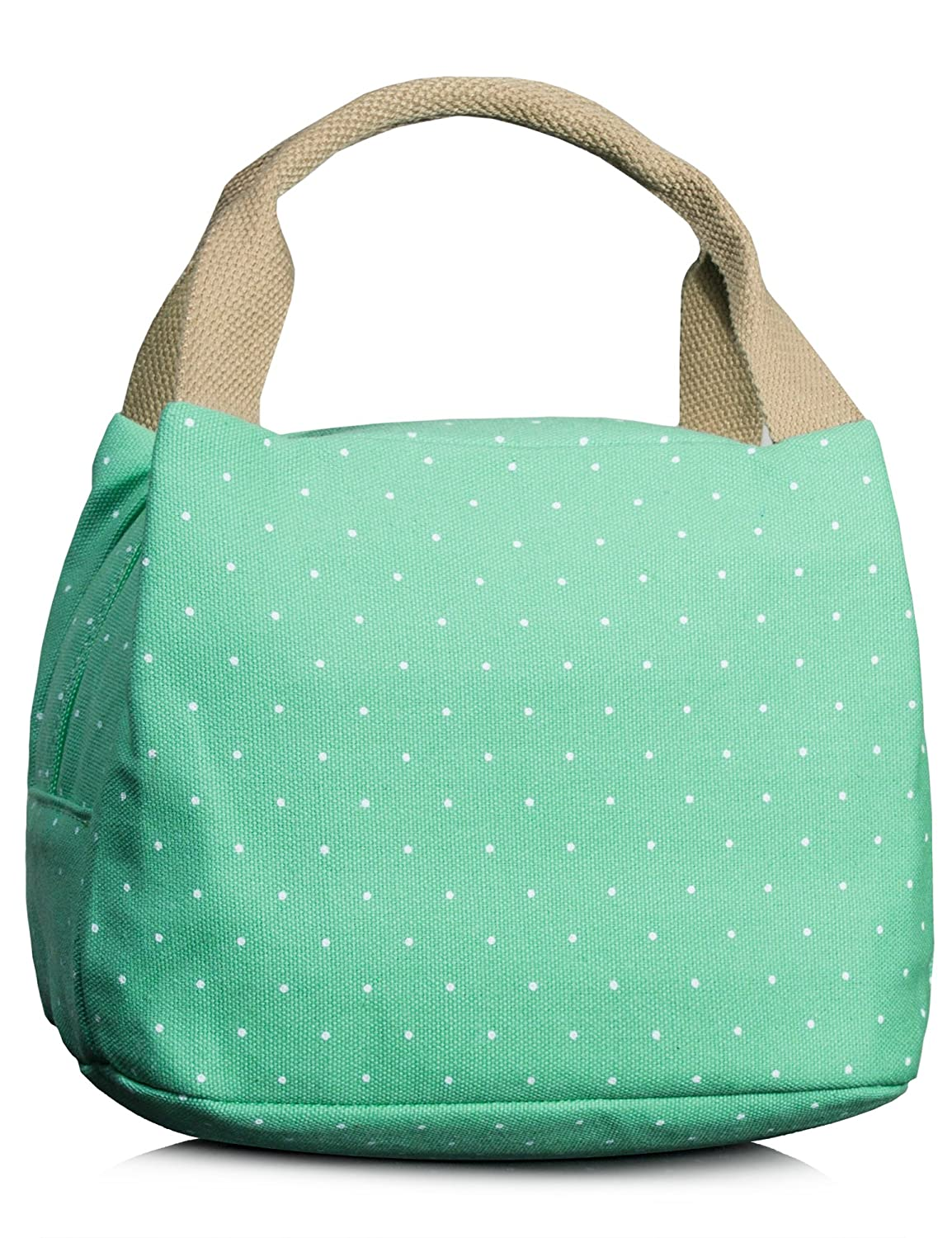 Lunch Bag for Girls, Cute Polka Dots insulated Lunch Box Picnic Tote Bag School Cooler Holder Black Fifth Season BP4725