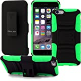iPhone 6s Plus Case / iPhone 6 Plus Case (Neon Green), CellJoy® [Future Armor] Hybrid Dual Protection Holster **Kickstand** [Belt Clip Holster Combo] - Rugged Case for iPhone 6s/6 Plus 5.5 inch