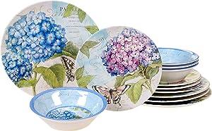 Certified International 89527 Hydrangea Garden Dinnerware, Dishes, Multicolor