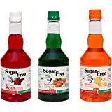 Wellness Express One Bottle Each of Siplite Sugar Free Sharbat - Rose, Pineapple, Almond Flavours, 1650 ml (Combo of 3)