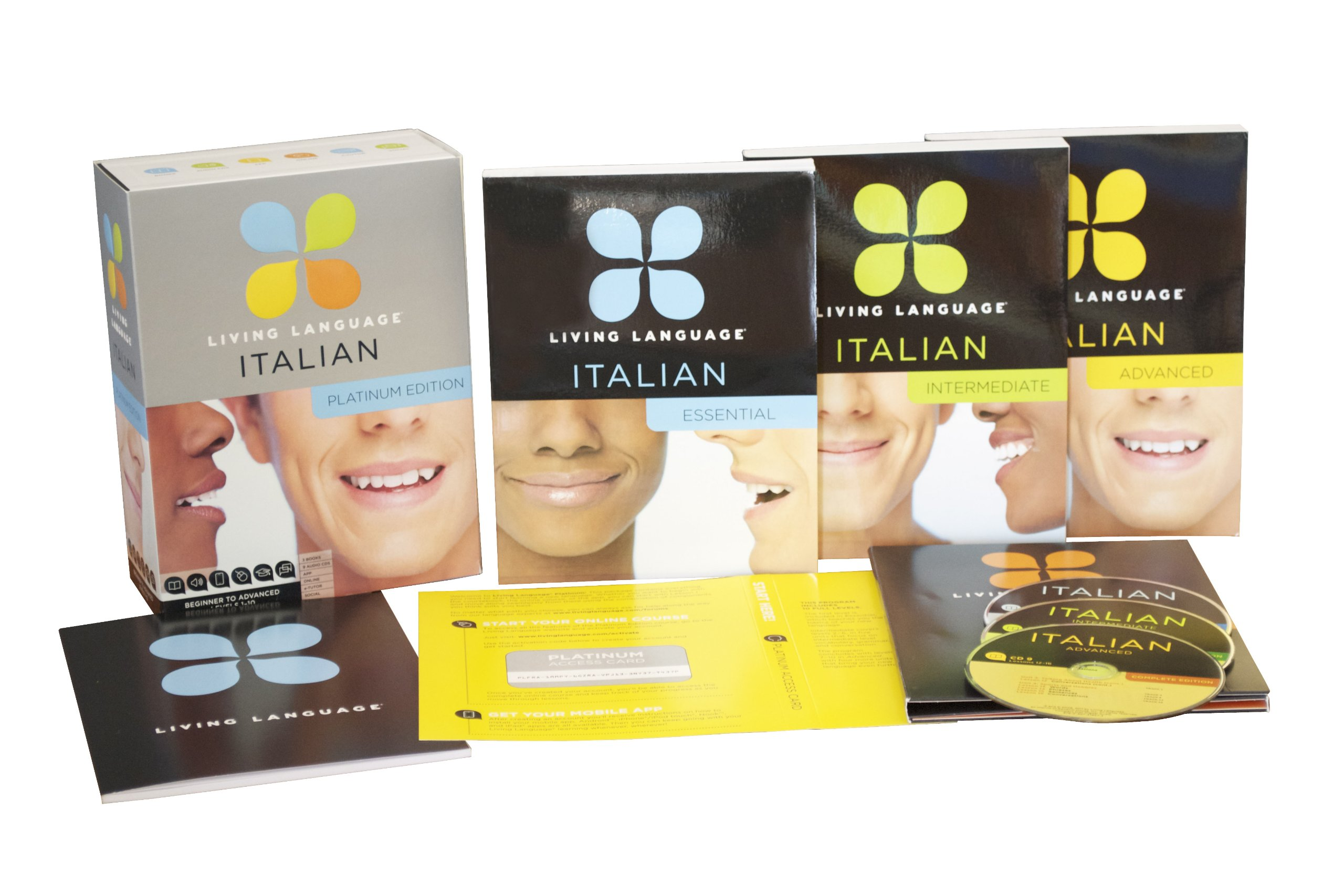 Living Language Italian, Platinum Edition: A complete beginner through advanced course, including 3 coursebooks, 9 audio CDs, complete online course, apps, and live e-Tutoring by Living Language