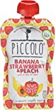 Piccolo Stage 1 Banana, Strawberry and Peach Puree, 100 g, Pack of 5