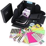 WIMI Explosion Box Scrapbook DIY Foto Album für Geburtstag Jahrestag Valentine Hochzeit Geschenk Schwarz