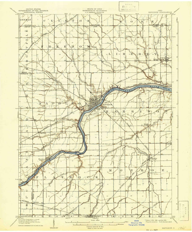 Amazon Com Yellowmaps Napoleon Oh Topo Map 1 62500 Scale