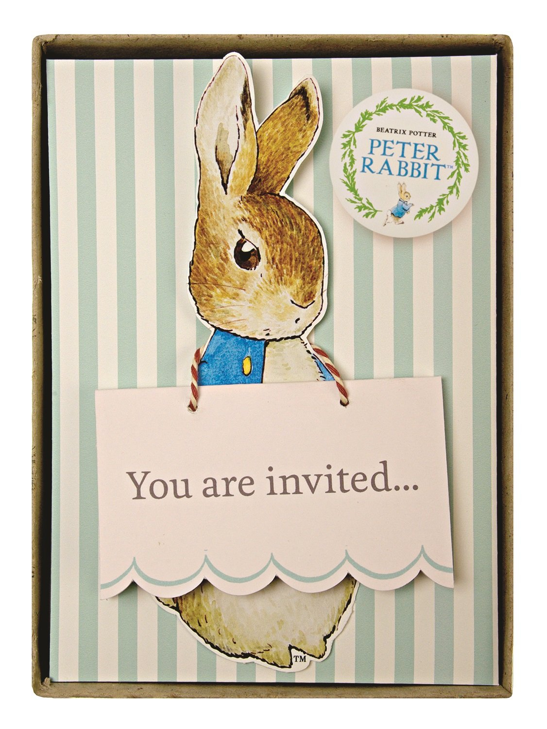 Amazon Meri Meri Party Invitations Peter Rabbit Boxed – Beatrix Potter Birthday Invitations