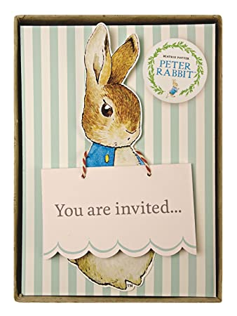 Meri Meri Party Invitations, Peter Rabbit   Boxed