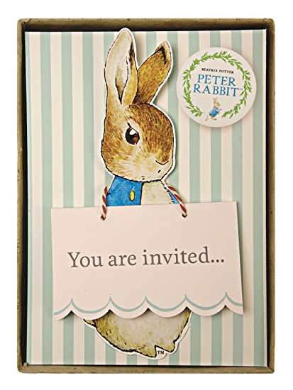 Amazon Com Meri Meri Party Invitations Peter Rabbit Boxed