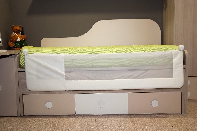 Barrera de cama nido para beb/é 180 x 66 cm Modelo osito y luna rosa Barrera de seguridad Sello de calidad SGS.