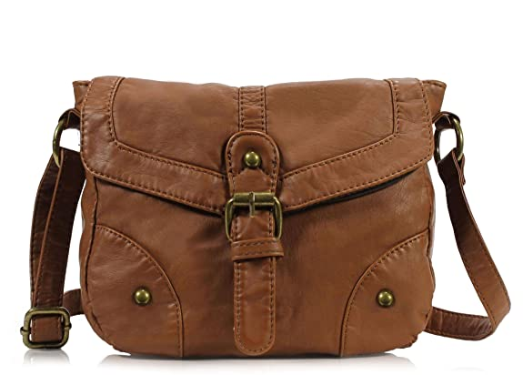 Scarleton Mini Soft Washed Casual Crossbody Bag H187404 - Brown