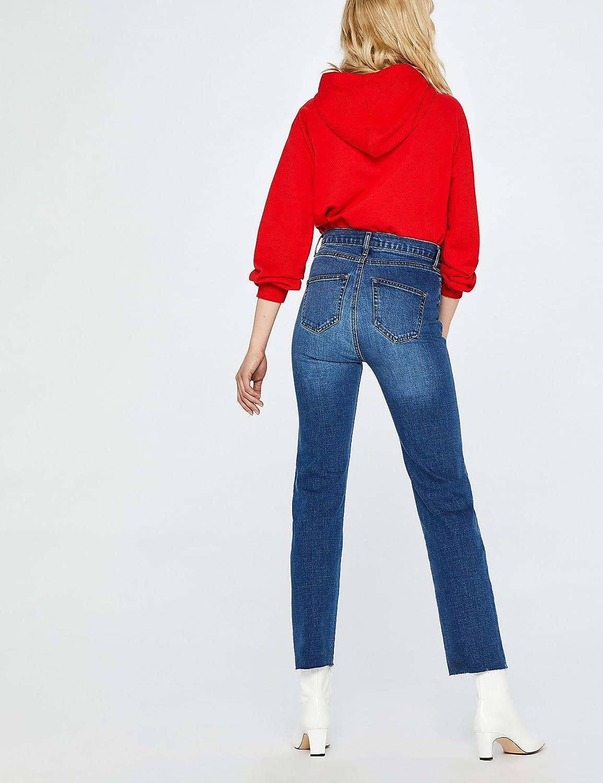 Jeans Dritti alla Caviglia a Vita Alta Donna find