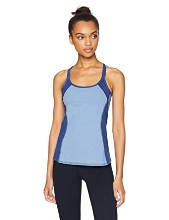 ca14822938 Splendid Women s Activewear Yoga Striped Tank with Shelf Bra  Amazon.in   Clothing   Accessories