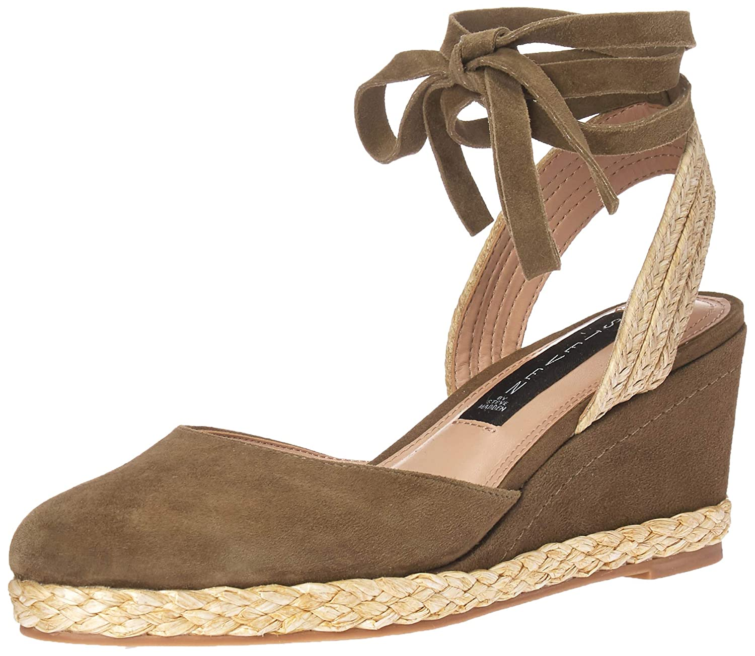 Olive Suede STEVEN by Steve Madden Womens Charly Sandal