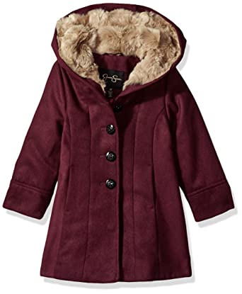 adbc97883a05 Amazon.com  Jessica Simpson Girls  Dress Coat Jacket with Cozy ...