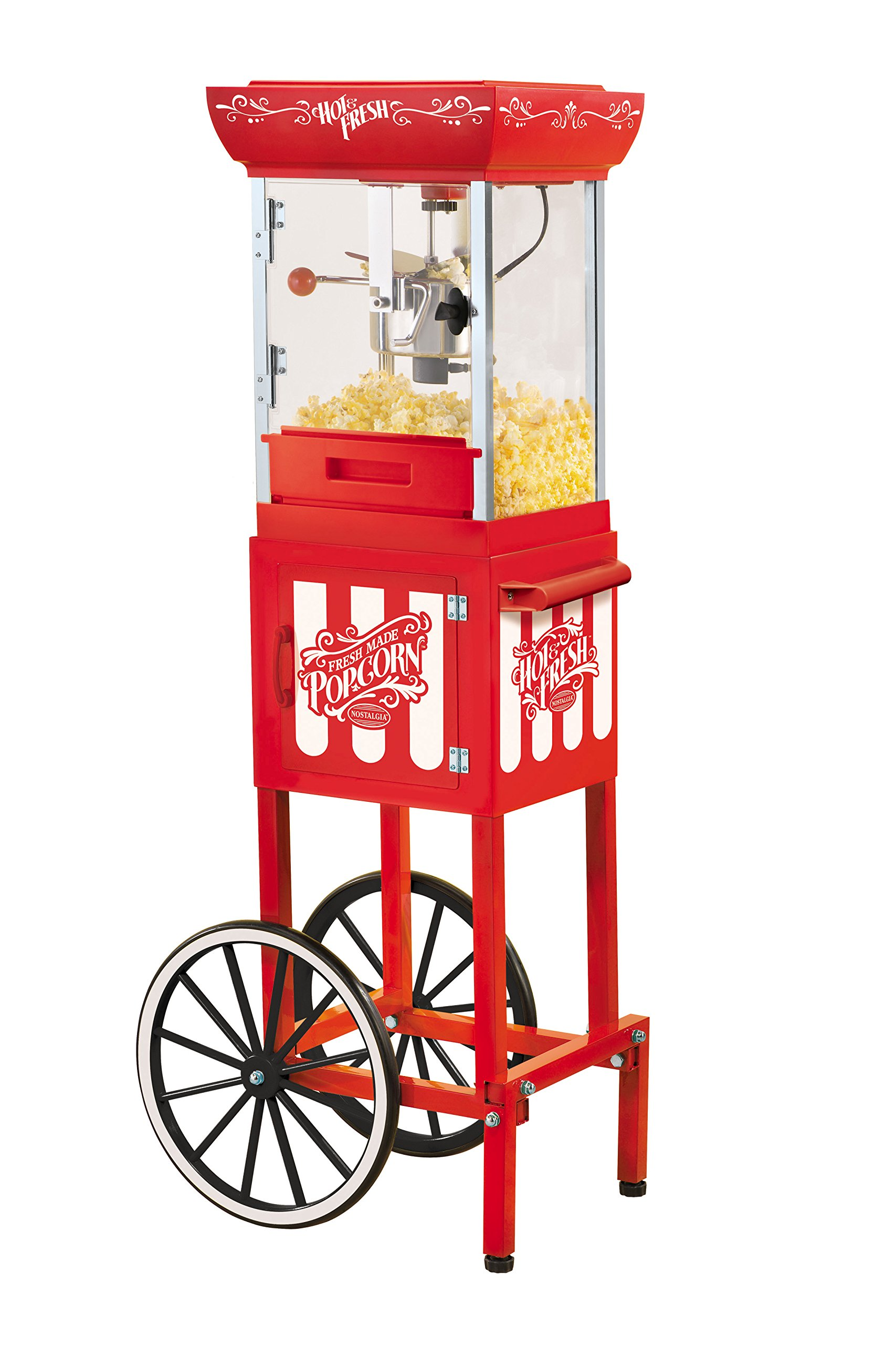 Nostalgia CCP399 2.5-Ounce Popcorn Cart - 48 Inches Tall