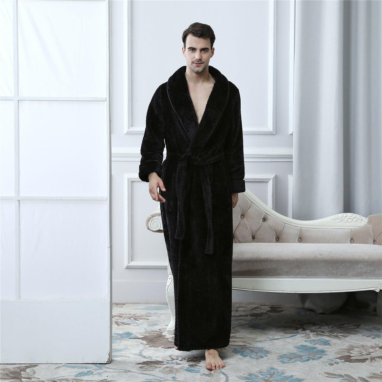 YAN Toalla para Hombre de Lujo Franela Batas de baño Bata de casa + cinturón, para Gimnasio Ducha SPA Hotel Robe Vacaciones (Color : 5, ...