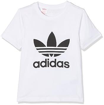 girls white adidas t shirt
