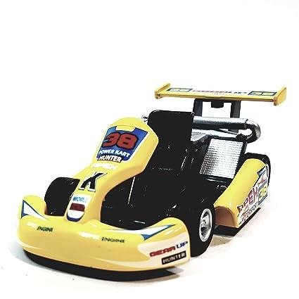 "Kinsmart Yellow #38 Hunter Motorsport Turbo Go Kart 5"" Diecast Vehicle"