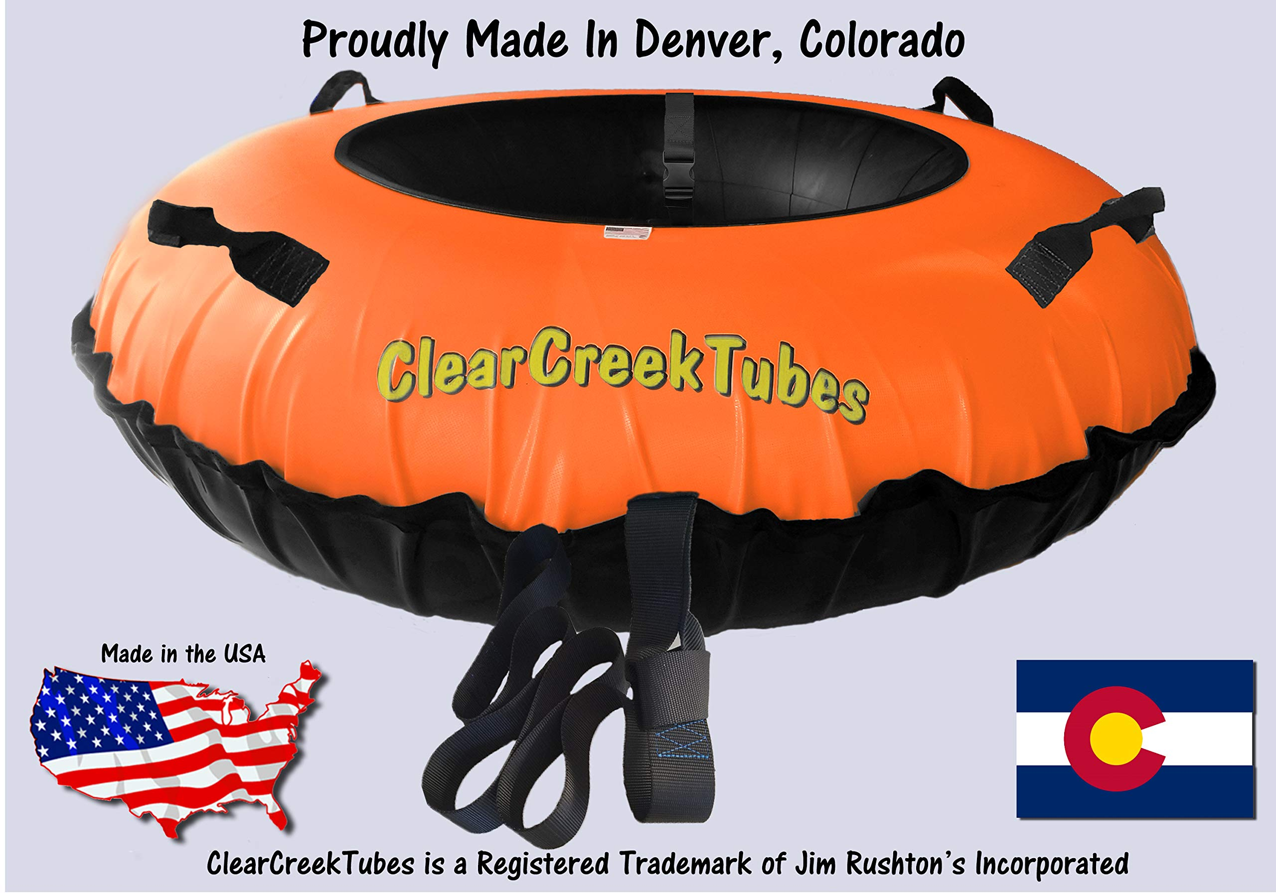 ClearCreekTubes Extreme TOWABLE 54'' Inflated Snow Tube (Orange) by ClearCreekTubes
