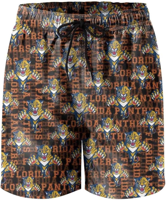 Hiehdakdz Mens Beach Shorts Absorbent Colorful Beachwear