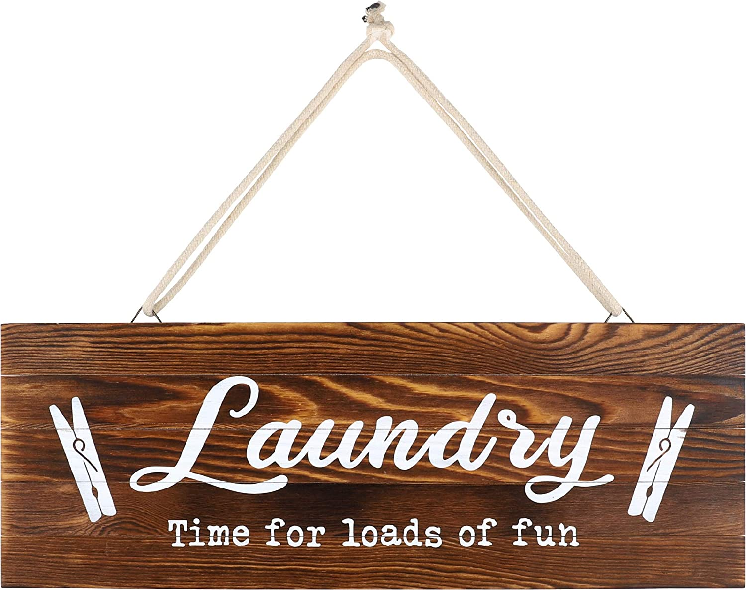 Rustic Wood Home Sign, Laundry. Real Pallet Wood Sign for Rustic Home Decor, Farmhouse Home Wall Decor with Laundry Sign. 6